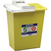 ChemoSafety Sharps Container with Hinged Lid 8 Gallon Part No. 8985 Qty 1