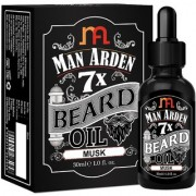 Man Arden 7X Beard Oil 30ml (Musk) - 7 Premium Oils Blend For Beard Growth Nourishment