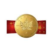 8x 1 g Gold Maplegram Maple Leaf