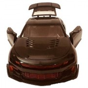 Bugatti Metal and Fibre finishing stylish Black Car with Rechargeable batteries with door opening and Boot space