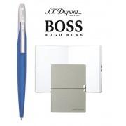 Set Pix Jet Blue Silver S.T. Dupont si Note Pad Grey Hugo Boss