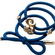 Corinne Hair Tie Metal Details French Blue 3-Pack
