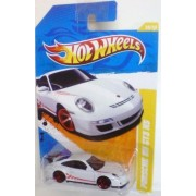 Hot Wheels 2011-036 New Models Porsche 911 GT3 RS WHITE w/Red Stripe 1:64 Scale