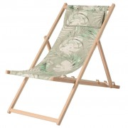 Madison Cadeira de praia madeira Dotan verde