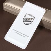 Geam Folie Sticla Protectie Display Samsung Galaxy A8 Plus A730 2018 Acoperire Completa Alb 4D