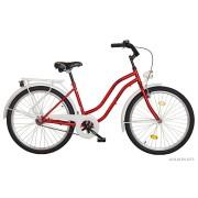 Koliken Cruiser kontrás női kerékpár bordó