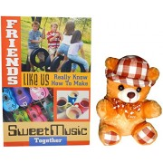 gifts for friend - Brown Teddy Bear With Hat ,Great Friends Greeting Card
