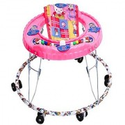 KGC Networks Kids New Imported Baby Walker with Adjustable Height Ganesh pink