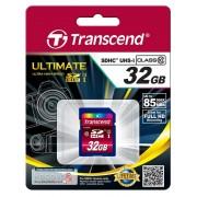 SD Card, 32GB, Transcend SDHC, Class10, UHS-I (TS32GSDHC10U1)