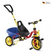Gyermek piros háromkerekűjével CARRY TOURING TIPPER - CAT 1 S - PUKY 2324
