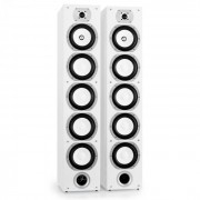 LTC V7B 4-посочни бас рефлексни тонколони чифт за поставяне на пода бели (V7B-WH)