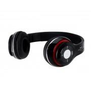 Wireless bluetooth headset Zwart Met Fm radio en Geheugen Poort Voor o.a iPhone 4 / 5 / 6 / 6S PLus Samsung Galaxy S8 / S8+ Plus / S6 / S7 EDGE PLUS / LG / HTC / Huawei / Sony