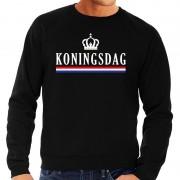 Bellatio Decorations Koningsdag sweater zwart heren