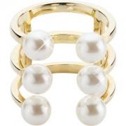 Gab & Ty by Jana Ina Accessori Anelli Anello aperto con perle, placcato in oro giallo Gr.17 1 Stk.