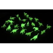 Liberty Imports Glow in the Dark Mini Dinosaur Toy Figures (Bulk Set of 24 Pieces)