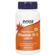 Now Foods Vitamín D3 1000 iu 360 kapslí - 360 kapslí