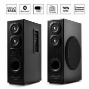 OBAGE DT-2425 Dual Tower Multimedia Speaker System(Black) with Bluetooth USB Double Aux FM MMC