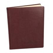Merkloos Luxe receptieboek/gastenboek rood 27 cm