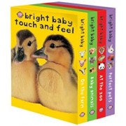 Bright Baby Touch & Feel Boxed Set: On the Farm, Baby Animals, at the Zoo and Perfect Pets, Hardcover/Roger Priddy