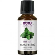 Now Foods NOW Essential Oils, Spearmint Oil, Stimulating Aromatherapy Scent, Steam Distilled, 100% Pure, Vegan, 1-Ounce