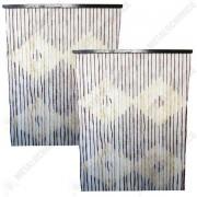Pachet 2 bucati - Perdea muste, Din bambus, Pentru usa