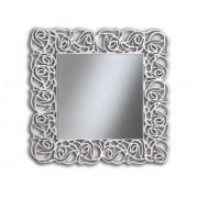 Art.521 Specchiera quadrata bianca