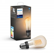 Philips Hue Filament edisonlamp - warmwit licht, flame - ST64/E27