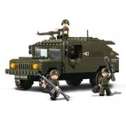 Stavebnice Sluban Army Hummer se 3 vojáky M38-B9900