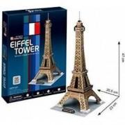 Puzzle 3D Cubicfun Turnul Eiffel, 35 piese
