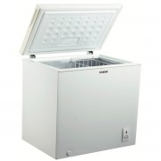 Lada frigorifica Samus LS220A+, 200 L, Termostat reglabil, Interior aluminiu, Dezghetare manuala, L 91 cm, Alb