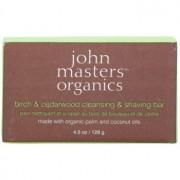 John Masters Organics Birch & Cedarwood săpun pentru curățare şi bărbierit, pentru bărbați și femei 128 g