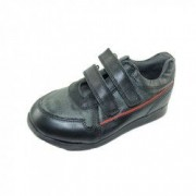 Pantofi din piele naturala pentru baieti PINKY PINKY PP20 Negru 35