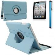 iPadspullekes.nl iPad Mini 5 hoes 360 graden leer licht blauw