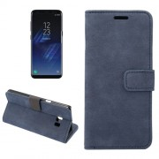 Samsung Galaxy S8 Plus Case, Sheep Bar Material Horizontal Flip Leather Case with Holder & Card Slots & Wallet & Photo Frame (Dark Blue)