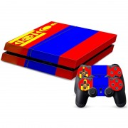 Mongolian Vlag patroon Stickers voor PS4 Game Console