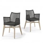 Houdini - 2 chaises avec accoudoirs indoor/outdoor