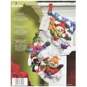 Bucilla Snow Fun Christmas Stocking Felt Applique Kit, 86108 18-Inch