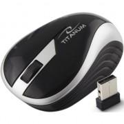 Mouse Wireless TITANUM BUTTERFLY TM113S, fara fir, USB, 1000 dpi, baterii incluse, negru