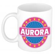 Bellatio Decorations Aurora naam koffie mok / beker 300 ml