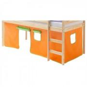 IDIMEX Rideaux MAX pour lit superposé ou surélevé, vert/orange