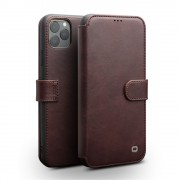 QIALINO Leather Wallet Phone Cover Case for iPhone 11 Pro 5.8-inch - Coffee