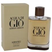 Acqua Di Gio Absolu Eau De Parfum Spray By Giorgio Armani 4.2 oz Eau De Parfum Spray