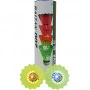 Fluturasi badminton 4 buc. cu lumina LED-uri
