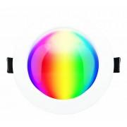 LED panel , 6W , süllyesztett , kerek , dimmelhető , RGB , RGBW , állítható fehér színárnyalat , CCT