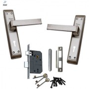 ATOM Polo Mortice Door Handle Set with Double Action Lock