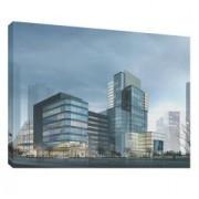 Cladire 3D 2 - Tablou canvas - 70x100 cm