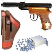 bullet Mark-2 Wooden Air Gun with 200 Bullets Cover (Black