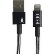 Design Letters Micro USB Cable 1 M Black A