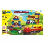 Joc constructie Blocki mubi, Ferma+Trenulet, 95 piese