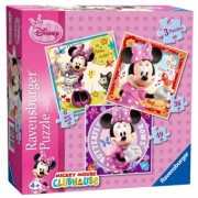 Puzzle 4Ani+ Minnie Mouse, 3 Buc in cutie, 25/36/49 Piese